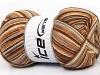 Print Sock Camel Brown Shades