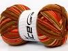 Print Sock Salmon Orange Green Brown