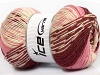 Jacquard Wool Pink Cream Burgundy