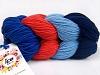 Art Color Cotton laks Marinen Lys blå Blå
