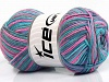 Natural Cotton Color Turquoise Teal Pink