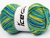 Natural Cotton Color Worsted Green Shades Blue Shades