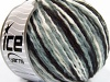Sale Self-Striping Hvit Grå Svart Wool