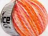 Sale Self-Striping Hvit Rosa Orange lys Salmon Wool