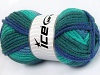 Elite Wool Superbulky Green Shades Blue Shades