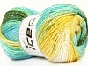 Magic Glitz Yellow White Turquoise Green