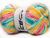 Candy Baby Yellow White Turquoise Pink