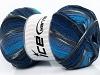 Super Sock Turquoise Grey Blue Shades