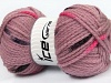 AirWool Bulky Spots Rose Pink Brown Black