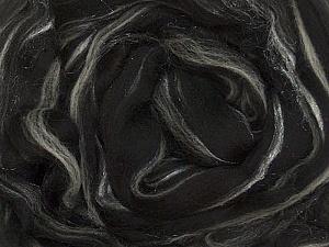 50gr-2m (1.76oz-2.18yards) 95%Wool, 5% Lurex Felt Fiber Content 95% Wool, 5% Lurex, White, Yarn Thickness Other, Brand ICE, Black, acs-993