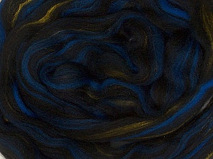 50gr-2m (1.76oz-2.18yards) 95%Wool, 5% Lurex Felt Fiber Content 95% Wool, 5% Lurex, Yarn Thickness Other, Brand ICE, Gold, Blue, Black, acs-995