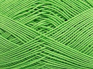 Ne: 8/4. Nm 14/4 Fiber Content 100% Mercerised Cotton, Brand ICE, Green, Yarn Thickness 2 Fine  Sport, Baby, fnt2-49596