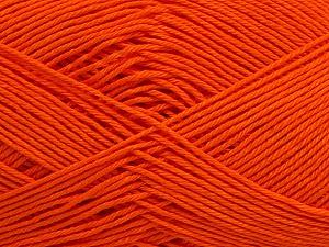 Ne: 8/4. Nm 14/4 Fiber Content 100% Mercerised Cotton, Orange, Brand ICE, Yarn Thickness 2 Fine  Sport, Baby, fnt2-49600