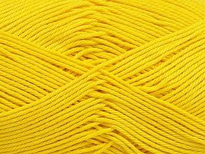 Ne: 8/4. Nm 14/4 Fiber Content 100% Mercerised Cotton, Yellow, Brand ICE, Yarn Thickness 2 Fine  Sport, Baby, fnt2-49601