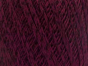 Ne: 10/3 +600d. Viscose. Nm: 17/3 Fiber Content 72% Mercerised Cotton, 28% Viscose, Maroon, Brand ICE, Yarn Thickness 1 SuperFine  Sock, Fingering, Baby, fnt2-49866
