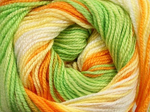 . Fiber Content 100% Baby Acrylic, Yellow, White, Orange, Brand ICE, Green, Yarn Thickness 2 Fine  Sport, Baby, fnt2-50004