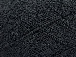 Fiber Content 100% Cotton, Brand ICE, Black, Yarn Thickness 2 Fine  Sport, Baby, fnt2-50091