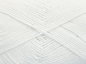 Fiber Content 100% Cotton, White, Brand ICE, Yarn Thickness 2 Fine  Sport, Baby, fnt2-50093