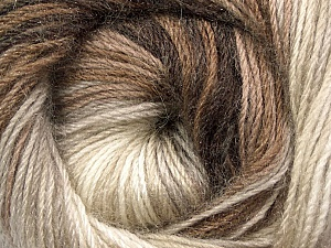 Fiber Content 60% Premium Acrylic, 20% Mohair, 20% Wool, Brand ICE, Cream, Brown Shades, Yarn Thickness 2 Fine  Sport, Baby, fnt2-50293