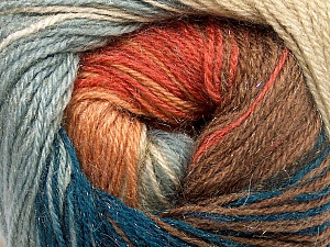 Fiber Content 57% Premium Acrylic, 3% Metallic Lurex, 20% Wool, 20% Mohair, Teal, Salmon, Light Blue, Brand ICE, Camel, Yarn Thickness 2 Fine  Sport, Baby, fnt2-50320
