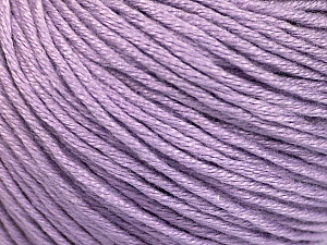 Fiber Content 60% Bamboo, 40% Cotton, Light Lilac, Brand ICE, Yarn Thickness 3 Light  DK, Light, Worsted, fnt2-50555