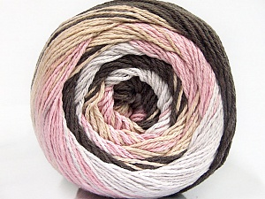 Fiber Content 100% Cotton, White, Pink, Brand ICE, Brown Shades, Yarn Thickness 3 Light  DK, Light, Worsted, fnt2-50560