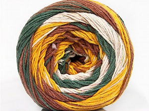 Fiber Content 100% Cotton, White, Khaki, Brand ICE, Gold, Brown, Yarn Thickness 3 Light  DK, Light, Worsted, fnt2-50564