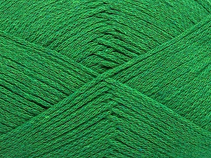 Fiber Content 100% Cotton, Brand ICE, Green, Yarn Thickness 2 Fine  Sport, Baby, fnt2-50695