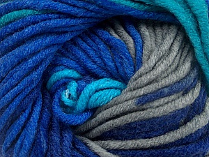 Fiber Content 100% Acrylic, Turquoise, Brand ICE, Grey, Blue Shades, Yarn Thickness 5 Bulky  Chunky, Craft, Rug, fnt2-50847