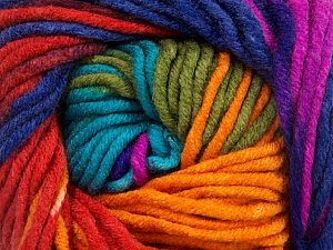 Fiber Content 100% Acrylic, Rainbow, Brand ICE, Yarn Thickness 5 Bulky  Chunky, Craft, Rug, fnt2-50849