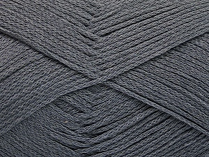 Fiber Content 100% Cotton, Brand ICE, Dark Grey, Yarn Thickness 2 Fine  Sport, Baby, fnt2-51099