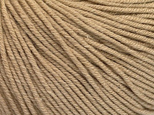 Fiber Content 60% Cotton, 40% Acrylic, Brand ICE, Beige, Yarn Thickness 2 Fine  Sport, Baby, fnt2-51218