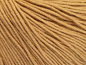 Fiber Content 60% Cotton, 40% Acrylic, Light Brown, Brand ICE, Yarn Thickness 2 Fine  Sport, Baby, fnt2-51219