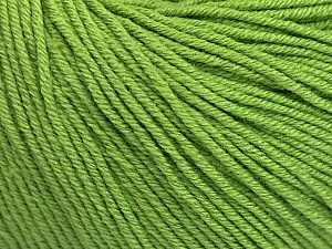 Fiber Content 60% Cotton, 40% Acrylic, Brand ICE, Green, Yarn Thickness 2 Fine  Sport, Baby, fnt2-51224