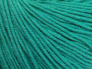 Fiber Content 60% Cotton, 40% Acrylic, Brand ICE, Emerald Green, Yarn Thickness 2 Fine  Sport, Baby, fnt2-51225