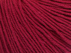 Fiber Content 60% Cotton, 40% Acrylic, Brand ICE, Burgundy, Yarn Thickness 2 Fine  Sport, Baby, fnt2-51228