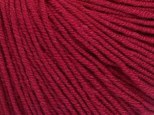 Fiber Content 60% Cotton, 40% Acrylic, Brand ICE, Burgundy, Yarn Thickness 2 Fine  Sport, Baby, fnt2-51228