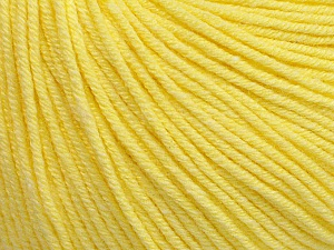 Fiber Content 60% Cotton, 40% Acrylic, Light Yellow, Brand ICE, Yarn Thickness 2 Fine  Sport, Baby, fnt2-51232