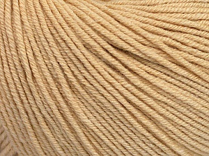Fiber Content 60% Cotton, 40% Acrylic, Brand ICE, Dark Cream, Yarn Thickness 2 Fine  Sport, Baby, fnt2-51247