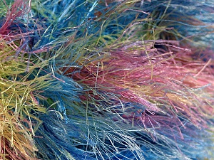 Fiber Content 100% Polyester, Yellow, Pink, Mint Green, Brand ICE, Blue, Yarn Thickness 6 SuperBulky  Bulky, Roving, fnt2-51311