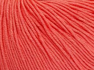 Fiber Content 60% Cotton, 40% Acrylic, Salmon, Brand ICE, Yarn Thickness 2 Fine  Sport, Baby, fnt2-51564