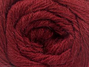 Fiber Content 45% Alpaca, 30% Polyamide, 25% Wool, Brand ICE, Burgundy, Yarn Thickness 2 Fine  Sport, Baby, fnt2-51596