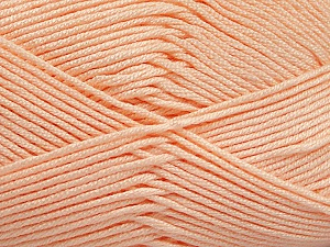 Fiber Content 50% Acrylic, 50% Bamboo, Light Orange, Brand ICE, Yarn Thickness 2 Fine  Sport, Baby, fnt2-51664