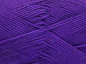 Fiber Content 50% Acrylic, 50% Bamboo, Purple, Brand ICE, Yarn Thickness 2 Fine  Sport, Baby, fnt2-51666