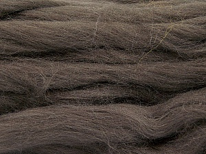 Fiber Content 100% Superwash Wool, Brand ICE, Dark Brown, Yarn Thickness 6 SuperBulky  Bulky, Roving, fnt2-51673