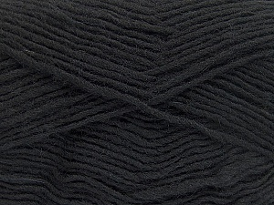 Fiber Content 50% Wool, 50% Acrylic, Brand ICE, Black, Yarn Thickness 3 Light  DK, Light, Worsted, fnt2-51853