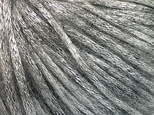 Fiber Content 70% Polyamide, 19% Merino Wool, 11% Acrylic, Silver, Brand ICE, Grey, Yarn Thickness 4 Medium  Worsted, Afghan, Aran, fnt2-52017