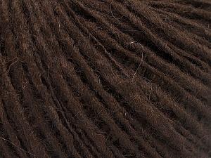 Fiber Content 65% Acrylic, 15% Alpaca, 10% Wool, 10% Viscose, Brand ICE, Dark Brown, fnt2-52189