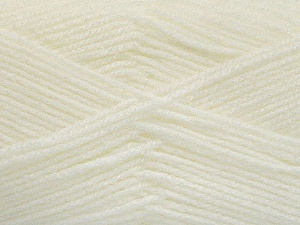 Fiber Content 100% Baby Acrylic, White, Brand ICE, Yarn Thickness 2 Fine  Sport, Baby, fnt2-52347