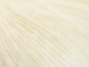 Fiber Content 34% Acrylic, 26% Polyamide, 25% Alpaca, 15% Superwash Merino Wool, Off White, Brand ICE, Yarn Thickness 3 Light  DK, Light, Worsted, fnt2-52379